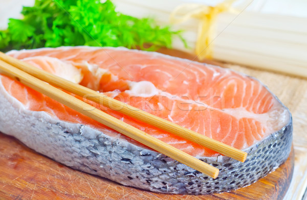 red salmon Stock photo © tycoon
