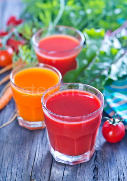 Foto d'archivio: Succo · vetro · tavola · primavera · frutta