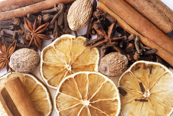Aroma Spice achtergrond koken hot kok Stockfoto © tycoon