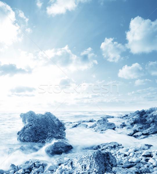 Deniz sahil gökyüzü manzara ışık uzay Stok fotoğraf © tycoon