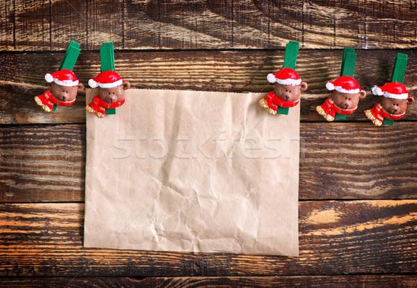 Stok fotoğraf: Noel · dekorasyon · Eski · kağıt · dikkat · arka · plan · mektup