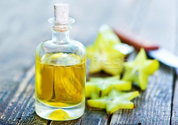 аромат нефть бутылку таблице продовольствие медицинской Сток-фото © tycoon
