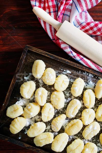 raw potato gnocchi Stock photo © tycoon