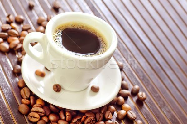 Kahve lezzet baharat gıda arka plan plaka Stok fotoğraf © tycoon