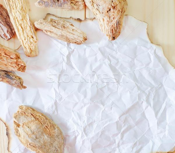 紙 テクスチャ 図書 木材 フレーム レトロな ストックフォト © tycoon