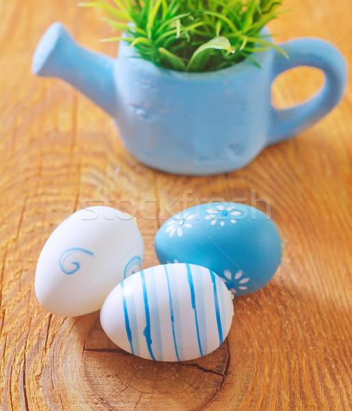 Paskalya yumurtası Paskalya bahar dizayn yumurta arka plan Stok fotoğraf © tycoon