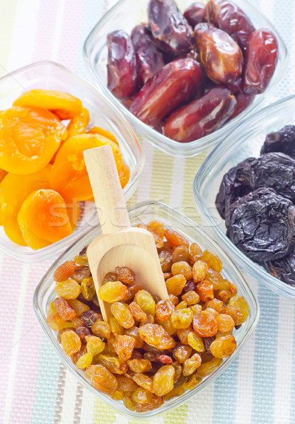 dried apricots, raisins and dates Stock photo © tycoon
