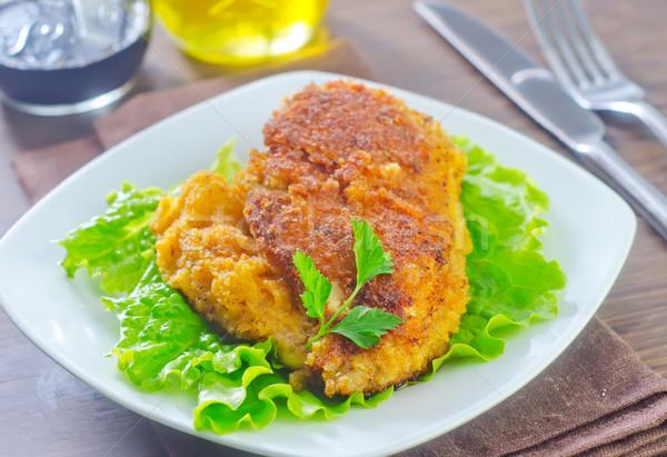 куриная грудка продовольствие фон Салат овощей томатный Сток-фото © tycoon