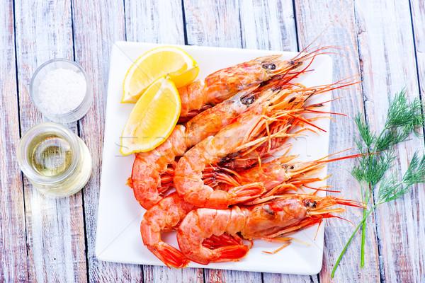 Gotowany tablicy tabeli ryb morza grupy Zdjęcia stock © tycoon