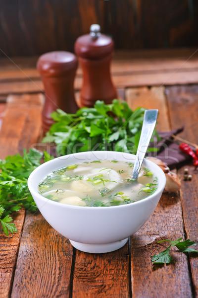 Brodo di pollo ciotola tavola medicina mangiare malati Foto d'archivio © tycoon
