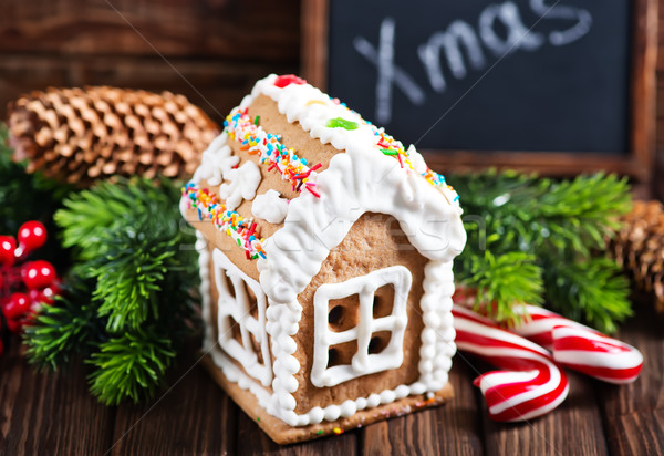 Zenzero cookies Natale tavola casa albero Foto d'archivio © tycoon