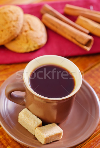 Photo stock: Cookies · café · chocolat · gâteau · boire · café