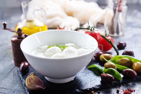 Caprese taze malzemeler caprese salatası tablo arka plan Stok fotoğraf © tycoon