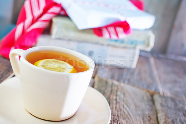 tea with lemon in cup Stock photo © tycoon