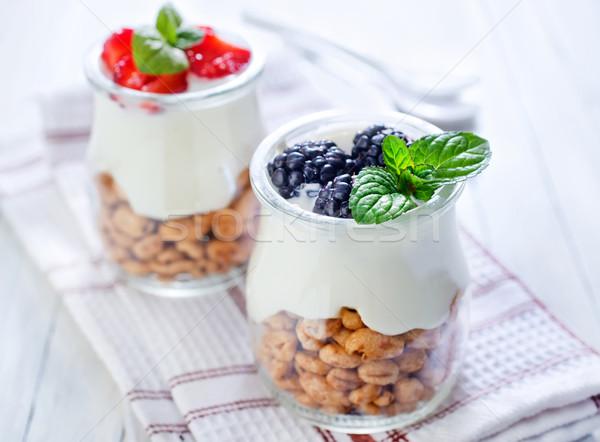 Stock fotó: Sivatag · étel · gyümölcs · üveg · reggeli · csésze