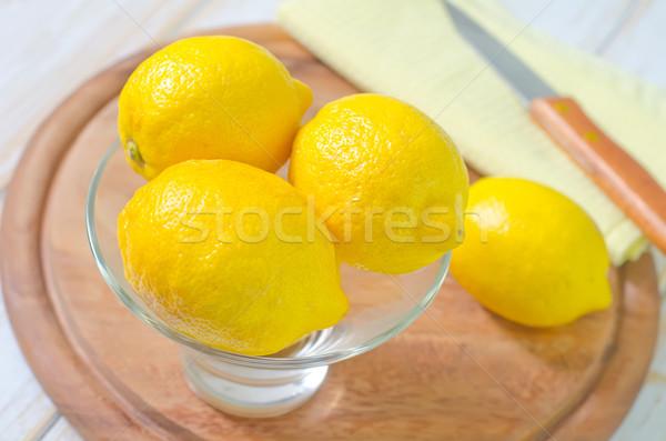 Friss citromok étel egészség tél dzsúz Stock fotó © tycoon