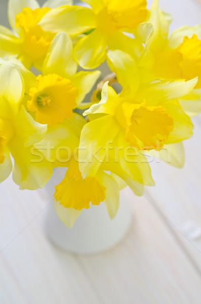 黄色の花 水 春 庭園 美 緑 ストックフォト © tycoon