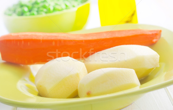 Fresh vegetables, raw potato and carrot Stock photo © tycoon