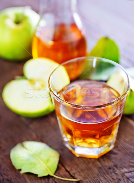 リンゴジュース 新鮮な ガラス 表 食品 木材 ストックフォト © tycoon