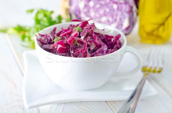 Salada azul repolho comida vermelho fresco Foto stock © tycoon