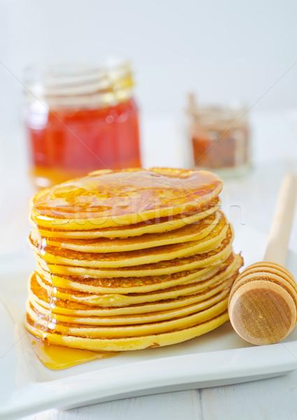 Thé déjeuner cuisson Cook miel Photo stock © tycoon