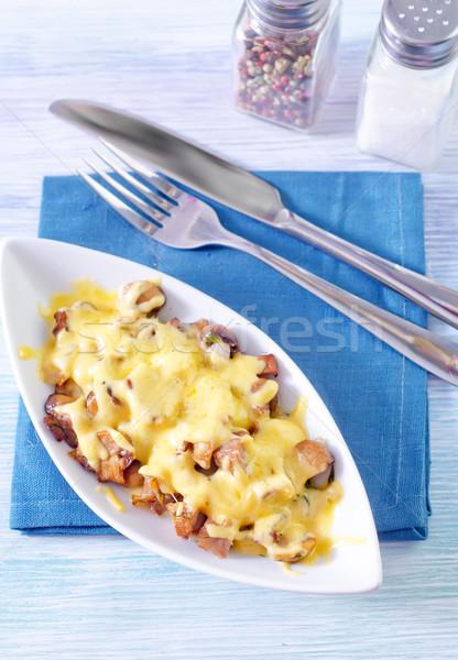Et mantar peynir sağlık yeşil Stok fotoğraf © tycoon