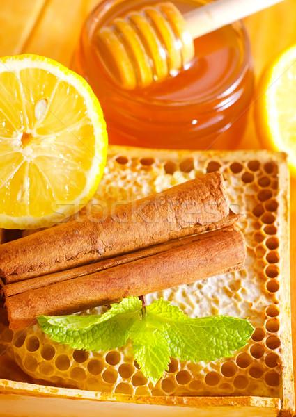 honey with cinnamon and lemon Stock photo © tycoon