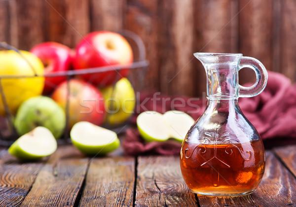 Manzana sidra vinagre botella mesa frutas Foto stock © tycoon