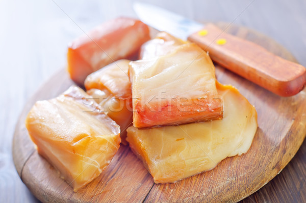 Stock photo: smoked fish on board