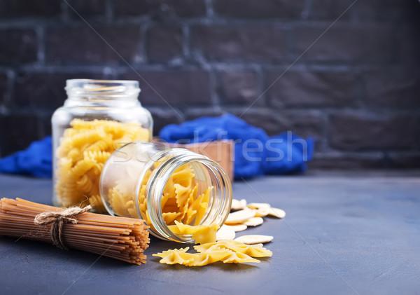 Pasta diverso greggio tavola grano cravatta Foto d'archivio © tycoon
