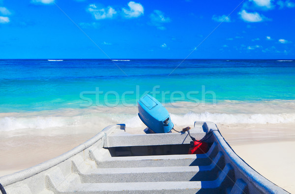 Motorówka Karaibów morza ocean lata tle Zdjęcia stock © ukrainec