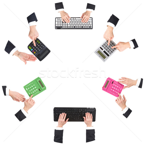 Hands at office Stock photo © ukrainec