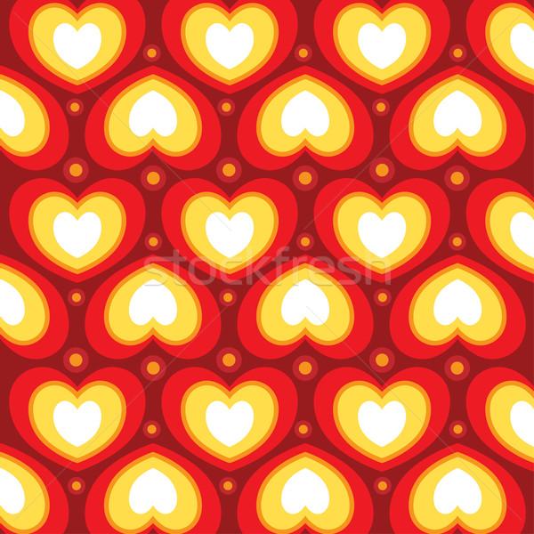 Kalp duvar kağıdı vektör kâğıt dizayn kırmızı Stok fotoğraf © UltraPop