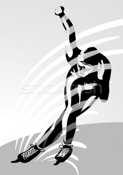 Acelerar patinação homem ilustração imagem meu Foto stock © UltraPop