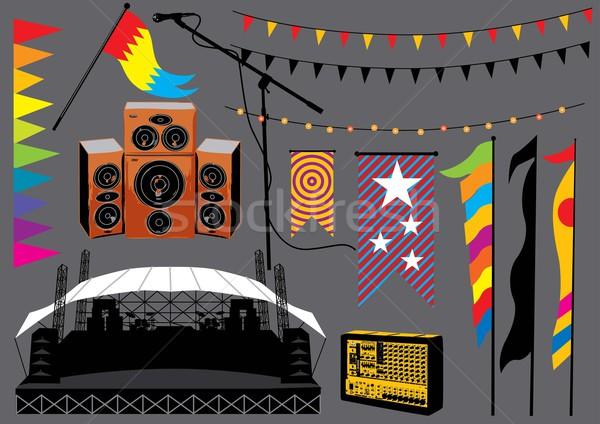Festival di musica set immagine musica raccolta Foto d'archivio © UltraPop