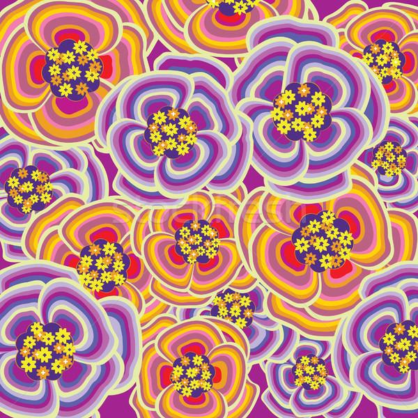 çiçek örnek çiçekler yaz Retro bağbozumu Stok fotoğraf © UltraPop