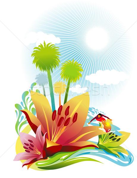 лет сцена Surfer океана солнце дизайна Сток-фото © UltraPop