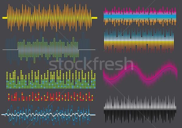 Ses ekolayzer ayarlamak görüntü benim müzik Stok fotoğraf © UltraPop