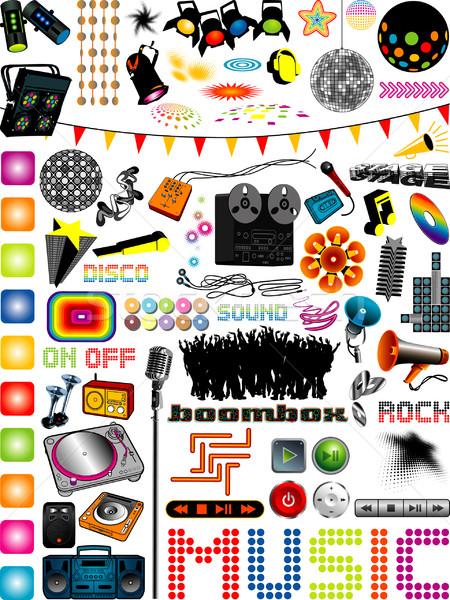 Müzik grafik çok farklı dizayn elemanları Stok fotoğraf © UltraPop