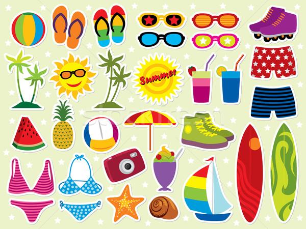 Yaz taze yaz tatili dizayn elemanları daha fazla Stok fotoğraf © UltraPop
