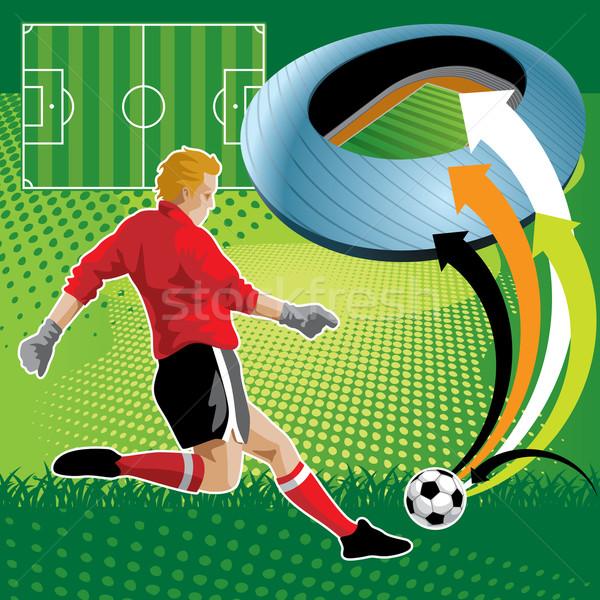 Футбол дизайна Creative футболист области спорт Сток-фото © UltraPop