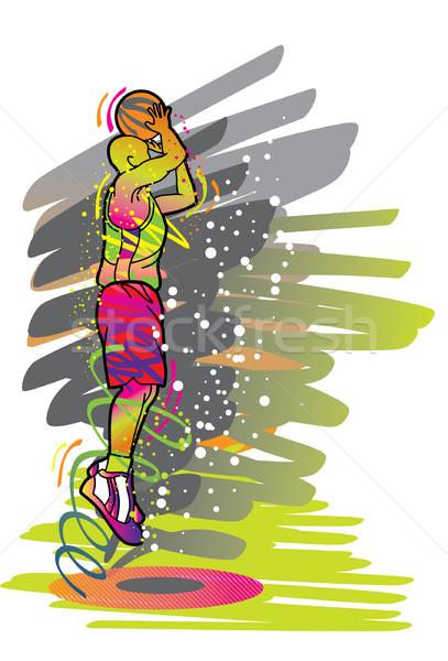Ilustração imagem meu esportes homem Foto stock © UltraPop
