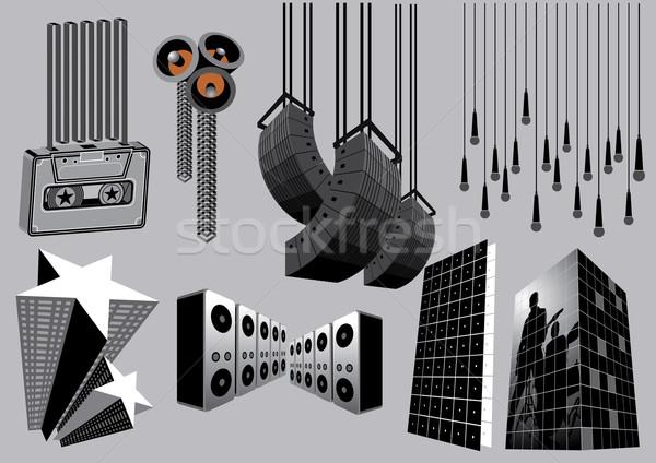 Müzik elemanları görüntü benim toplama inşaat Stok fotoğraf © UltraPop