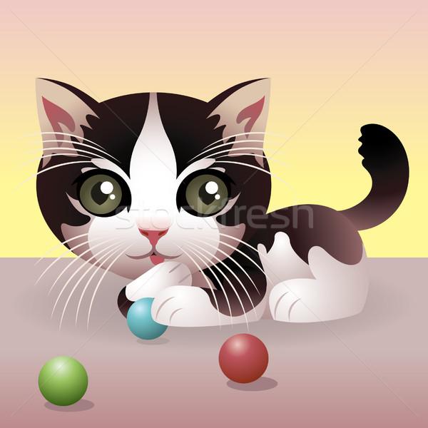 Kedi örnek daha fazla hayvanlar benim portföy Stok fotoğraf © UltraPop