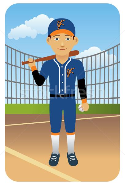 Jogador de beisebol bat imagem meu esportes Foto stock © UltraPop