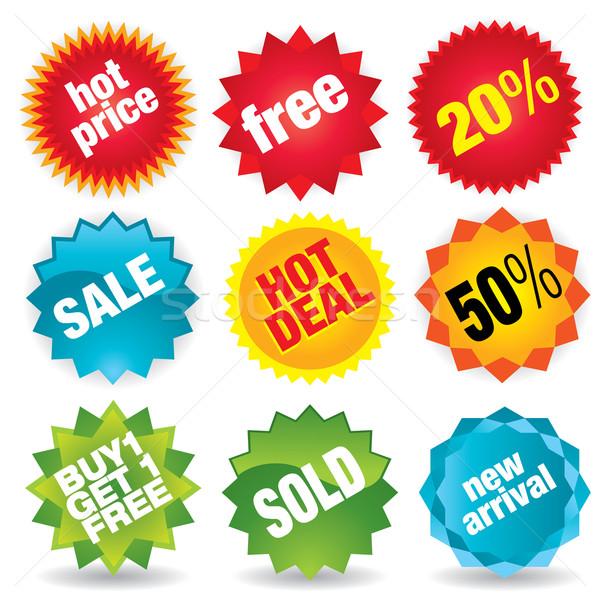Verkauf Aufkleber Vektor Etiketten Set mehr Stock foto © UltraPop