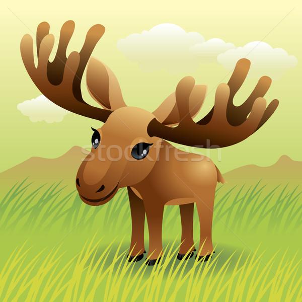 Moose illustrazione più animali portafoglio Foto d'archivio © UltraPop