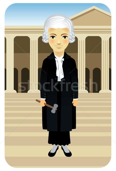 Yargıç kadın cüppe tokmak dizayn Stok fotoğraf © UltraPop