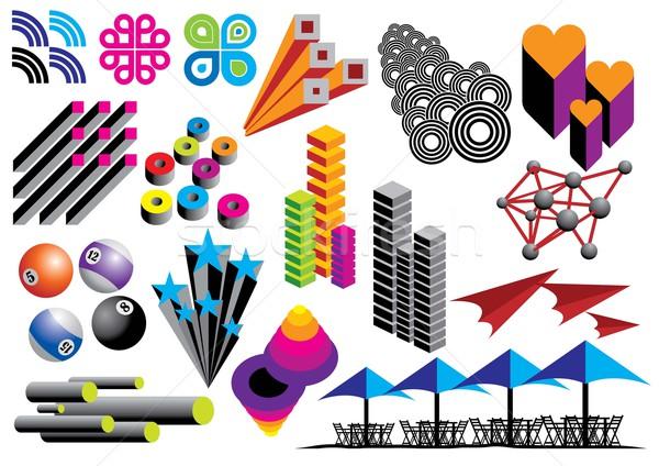 Vektör grafik nesneler ayarlamak görüntü benim Stok fotoğraf © UltraPop