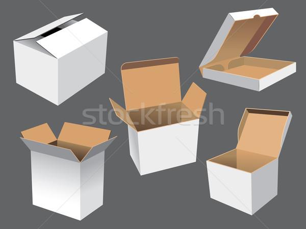 картона коробки вектора различный искусства Сток-фото © UltraPop
